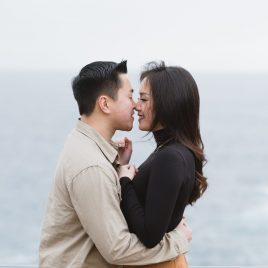 couple beach portrait in Point Lobos Natural Reserve