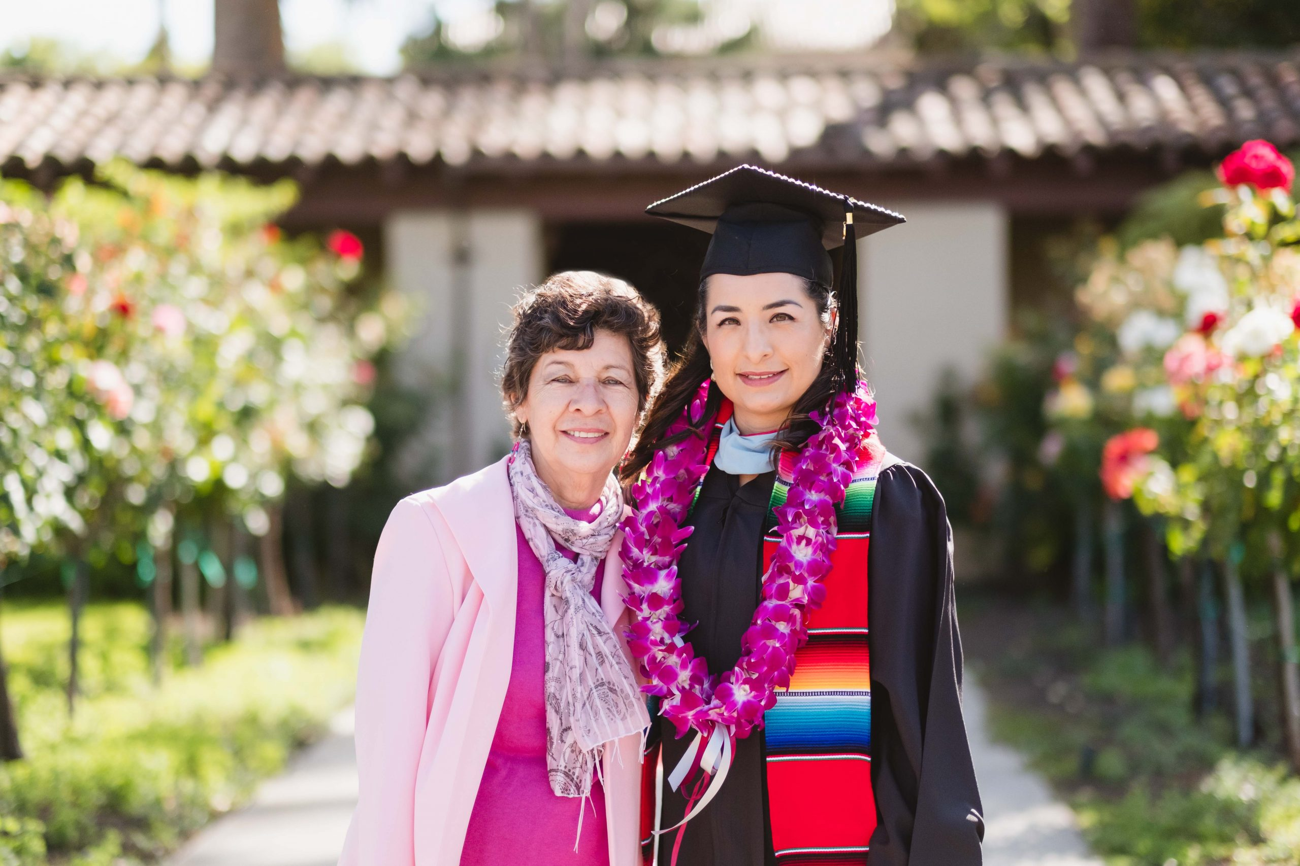 Mother and Daughter graduation portrait