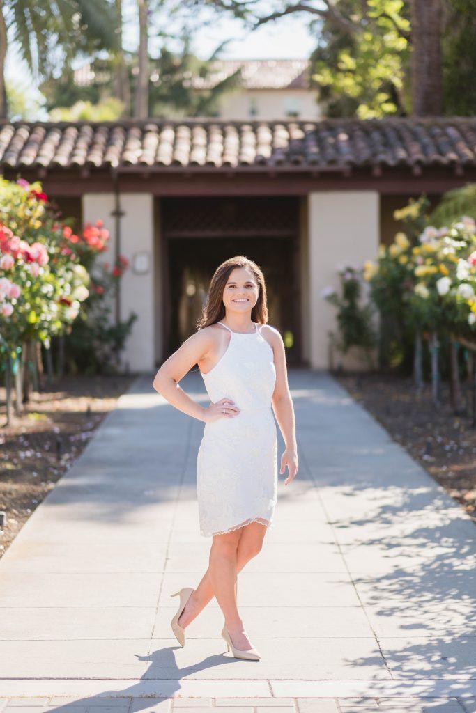 Woman Standing in Front of Santa Clara University
