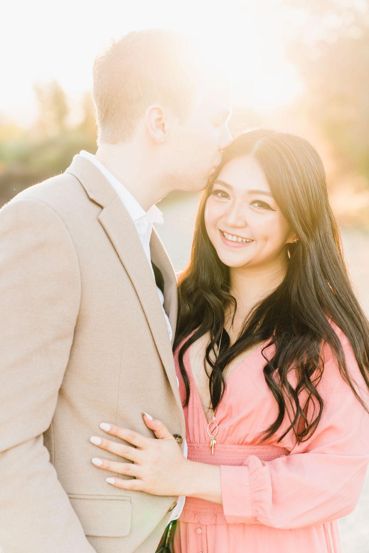 woman smiling with boyfriend
